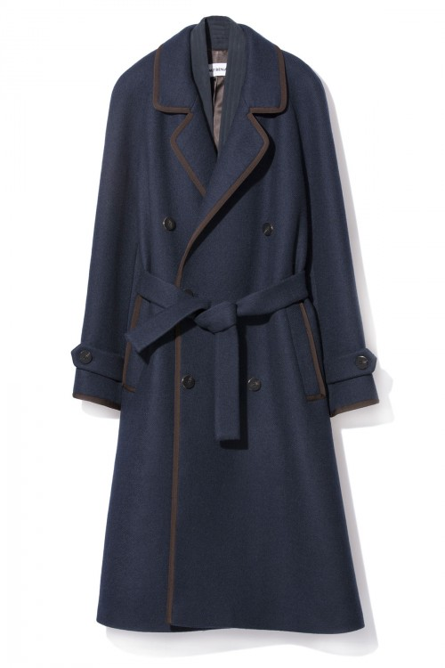 K.K.  WOOL TRENCH COAT