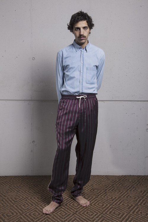 BORDEAUX STRIPES MORNING PANTS