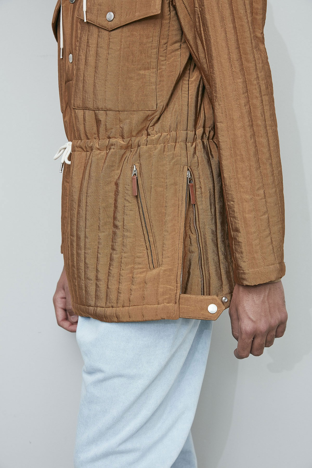 QUILTED PUFFY HOODIE COAT