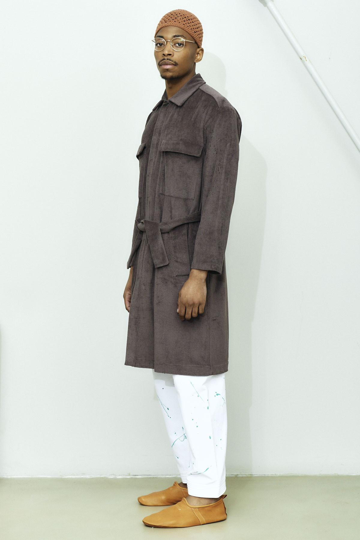 TERRY CLOTH OFF COURT TRENCH