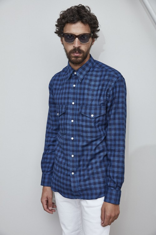 JAPANESE PLAID DENIM SHIRT