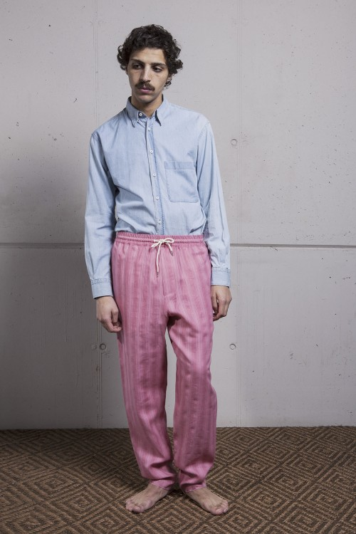PINK STRIPES MORNING PANTS